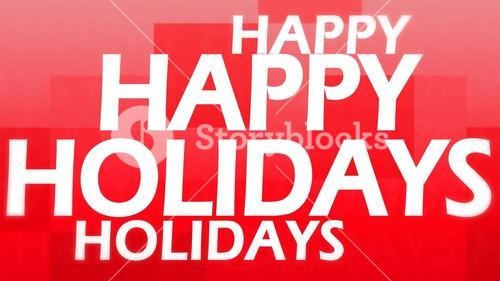 Creative image of happy holidays concept