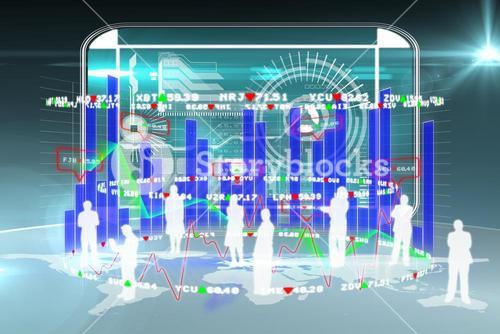 Composite image of data on a touchscreen