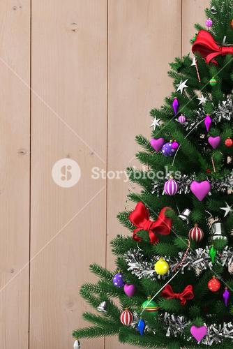 Composite image of Christmas tree