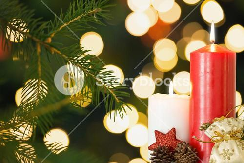 Composite image of Christmas things