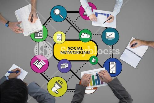 Composite image of social networking concept