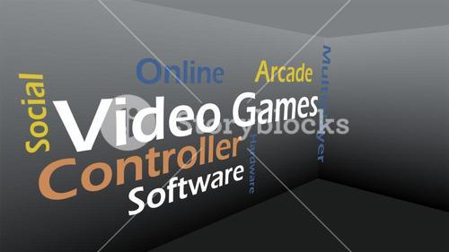 Creative image of video games concept