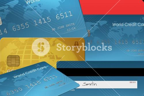 Composite image of credit card