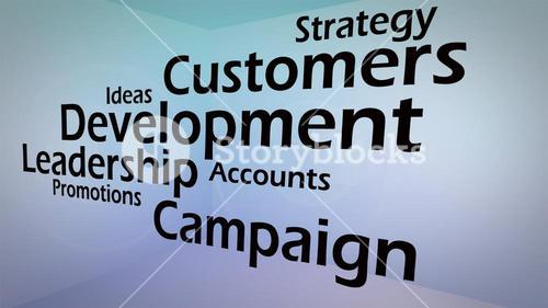 Creative image of business development concept