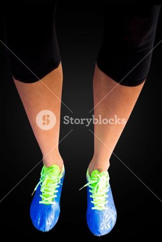 Close up of woman legs