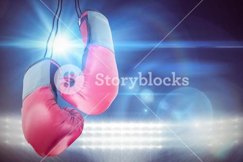 Boxing gloves attached