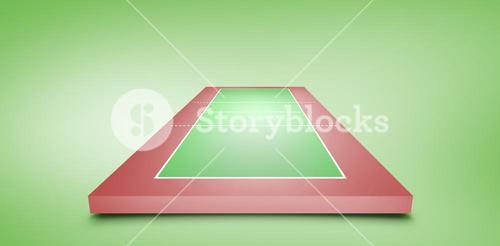 Composite image of drawing of sports field