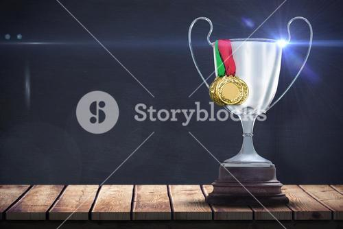 Composite image of composite image of gold medals