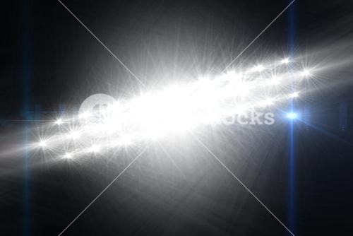 Digitally generated image of Spotlights