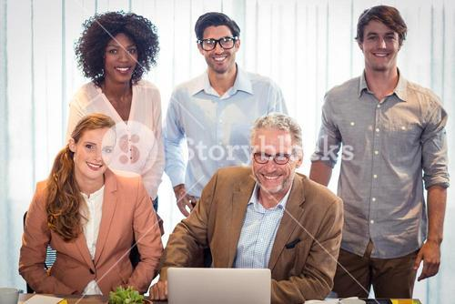 Portrait of business people smiling