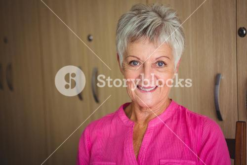 Portrait of a smiling retired woman