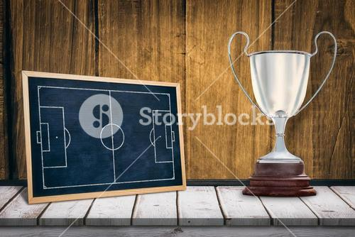 Composite image of focus on a trophy