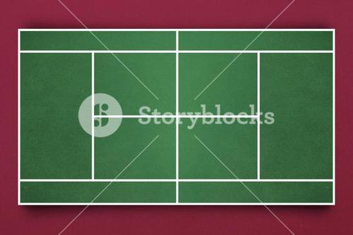 Digital image of tennis field