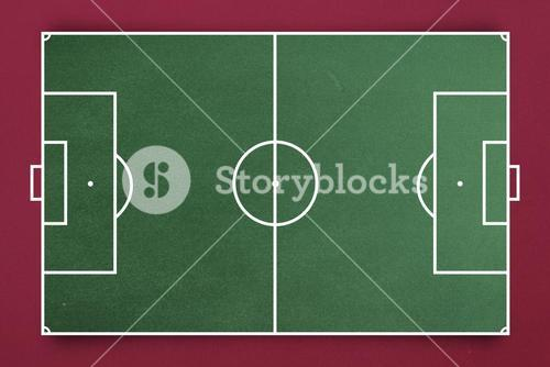 Composite image of soccer field plan
