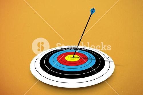Composite image of digital image of a target