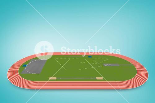 Composite image of athletics field plan on a white background