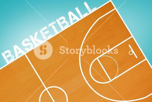 Composite image of basketball message on a white background
