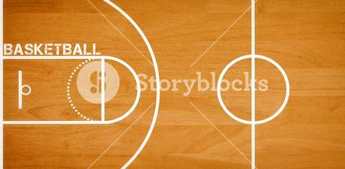 Basketball message written in white