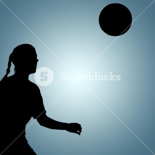 Composite image of woman soccer player waiting the ball