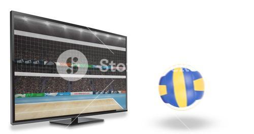Composite image of view of a volleyball