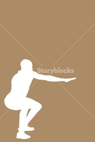 Composite image of sportsman practising the shot put