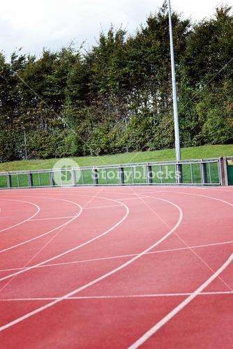 View of a running track