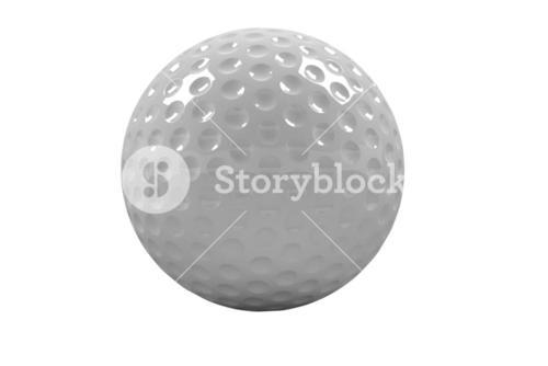 View of a white golf ball