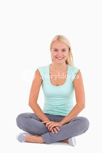 Smiling woman sitting
