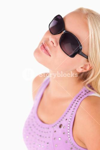 Charming lady with sunglasses