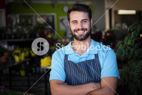 Portrait of male florist smiling