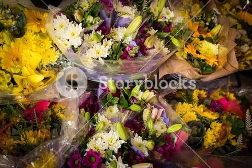 Close-up of bouquet of flowers