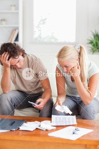 Calculating couple on a sofa