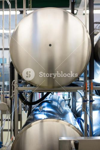 Close-up of beer tank