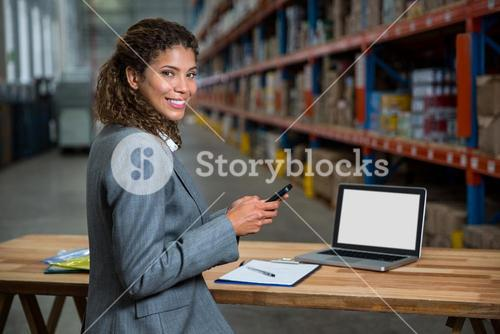 Business woman posing for the camera