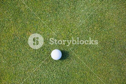 Directly above shot of golf ball