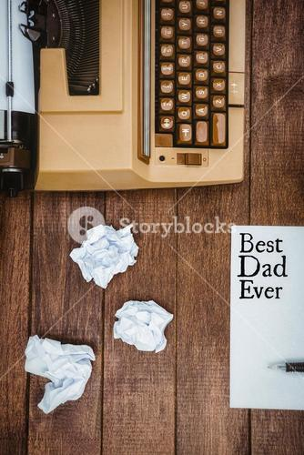 Best dad ever written on paper