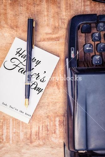 Composite image of fathers day message