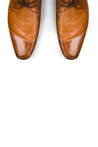 Focus of brown dress shoes