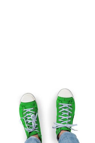 Green casual sneakers