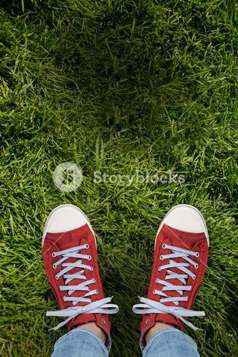 Composite image of casual shoes