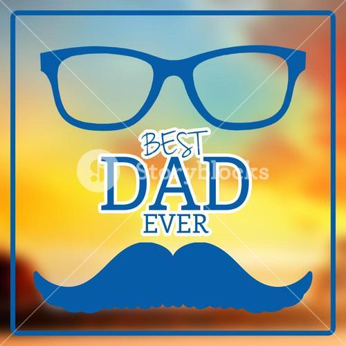 Composite image of best dad ever