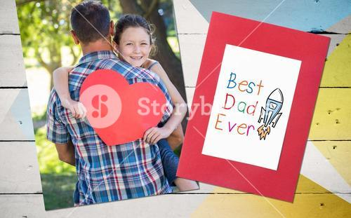 Composite image of word best dad ever