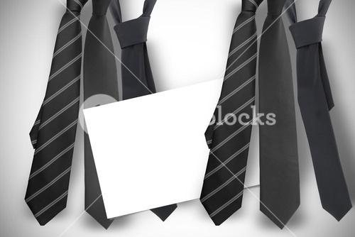 Composite image of blue tie with diagonal line