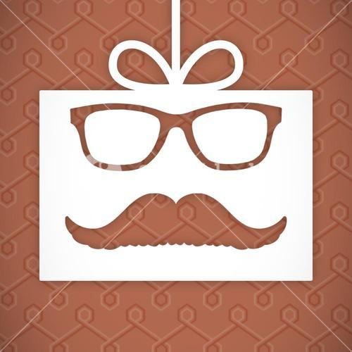 Composite image of icon of mustache and tie