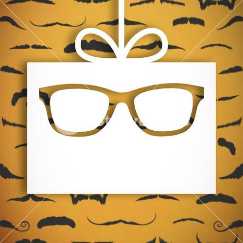 Composite image of icons of glasses and tie