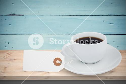 Composite image of white tag isolated