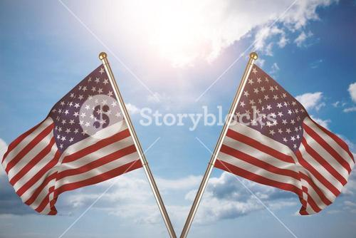 Composite image of close up of the us flag