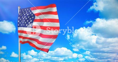 Composite image of us flag