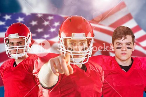 Composite image of american football team