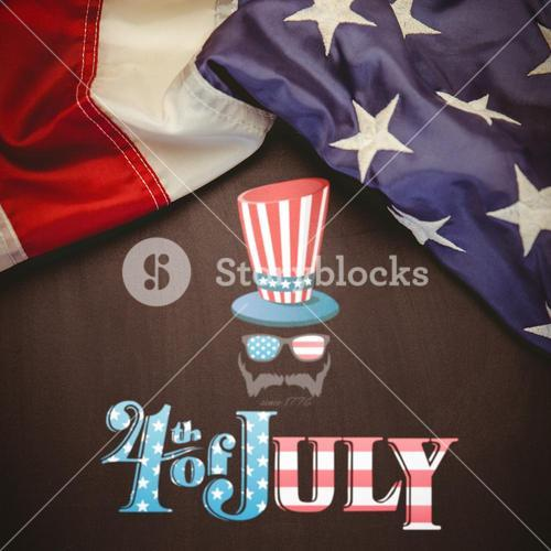 Composite image of focus on 4th july